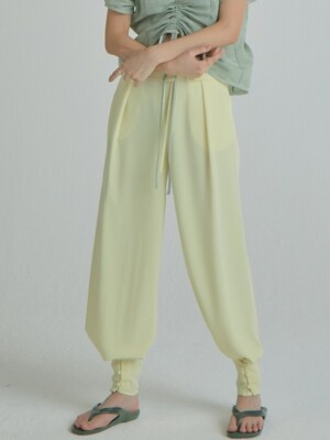 Flap Button Pants_Light Yellow
