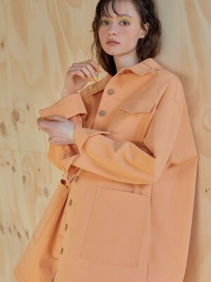 루즈핏 19ss - Masculine shirt - pale orange