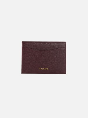 REIMS W018 Roof Mini Card Wallet Burgundy