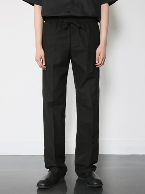 V278 BASIC LINEN BANDDING PANTS_BLACK