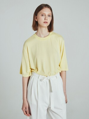 LABEL POINT TEE LIGHT YELLOW