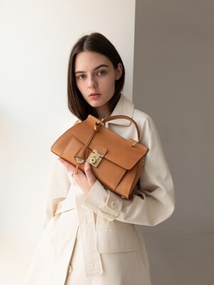 lea bag natural beige