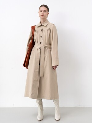 BELTED TRENCH COAT(BEIGE)