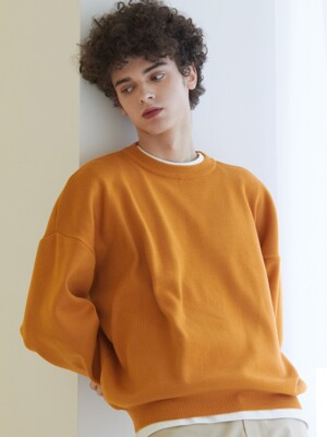 LAH1 ROUND NECK KNIT(ORANGE)