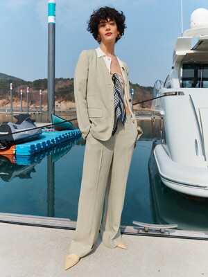 [Drama Easy] Summer Wide-leg Turn-up Trousers (4colors)