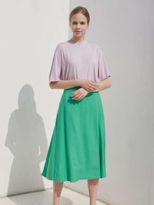 WRAP TUCKED SKIRT_GREEN