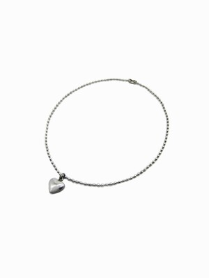 [Surgical] Mini Heart Ball & Chain Anklet