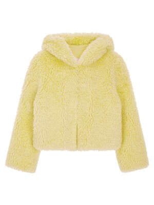 FAUX FUR HOODED SHORT JACKET (LJK019KRFKF)