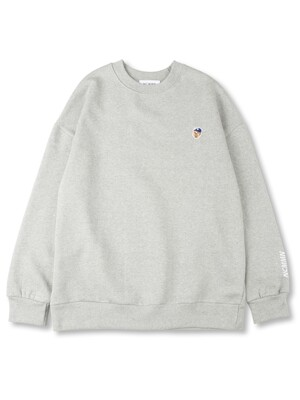 BEAR SMALL PATCH SWEATSHIRT GY
