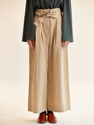 waist-tie cotton pants_beige