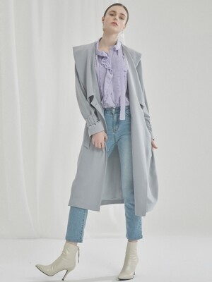WOMAN SIMPLE BRUSH DENIM PANTS