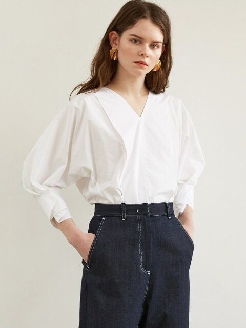 FW18 COCOON SLEEVE BLOUSE WHITE