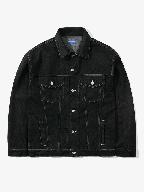 DENIM OVER TRUCKER JACKET BLACK