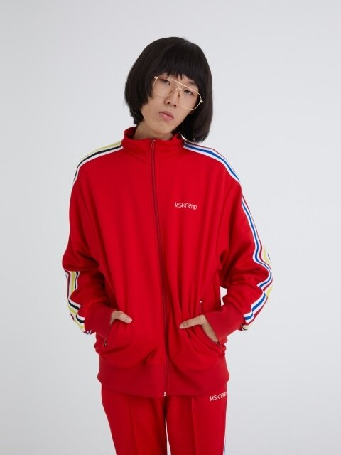 MSKN2ND LOGO TRACK TOP RED