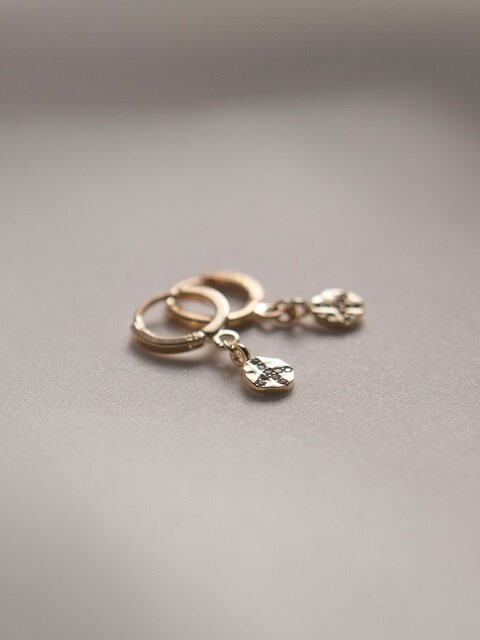 Peace Coin Earrings