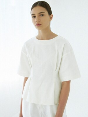 LINEN PINTUCK BLOUSE (WHITE)