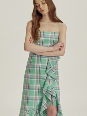 Mia Gingham check ruffle dress_SS3611MT