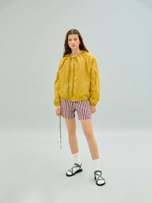 BACK COLORING HOODED ANORAK (YELLOW)