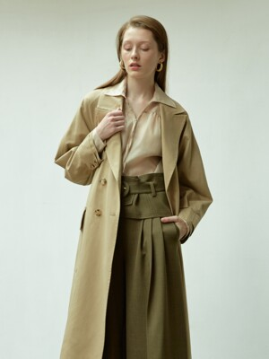 raglan sleeve trench coat