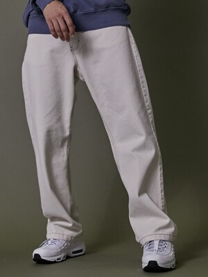 TRAVELER DENIM TWILL PANTS IVORY