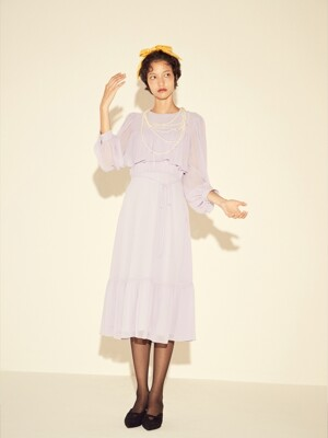 CHIFFON CANCAN DRESS - VIOLET