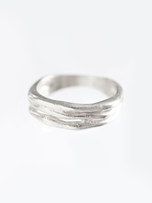 cl006 Vine silver ring