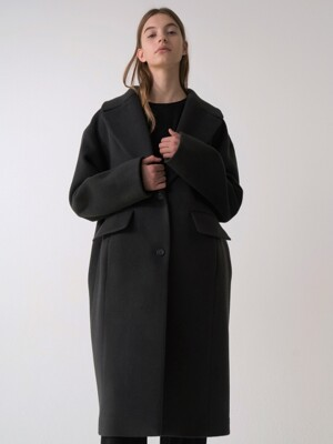 wool coat (deep gray)