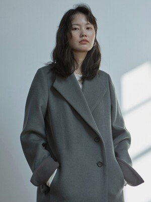 signature long coat _ mint grey