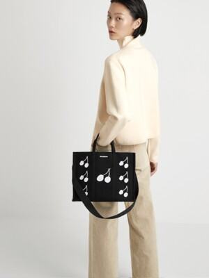 white cherry/black bag