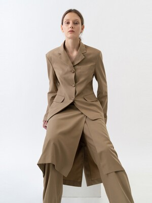 SINGLE LINE JACKET WOMEN [BEIGE]