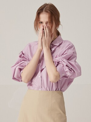 Volume oversized shirts - Lavender