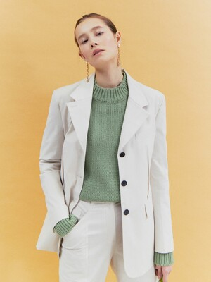 [Classy Cotton] Oversized Three-Button Blazer_2color