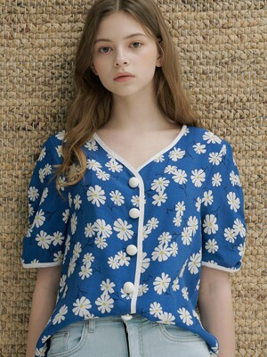 monts 1146 colourway floral blouse (blue)