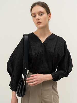 FW20 New Cocoon Blouse Black