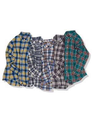 BRICK LANE MARKET FLANNEL BD SHIRTS (5color)
