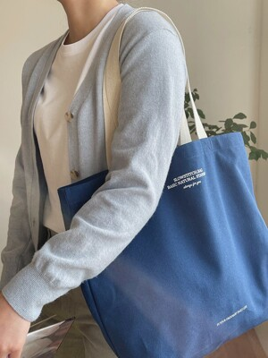summer blue canvas bag
