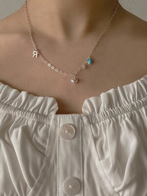 [단독]deep 8th blossom necklace (Silver 925)