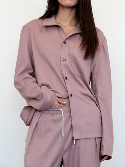 Lounging Shirt - Dusty Pink