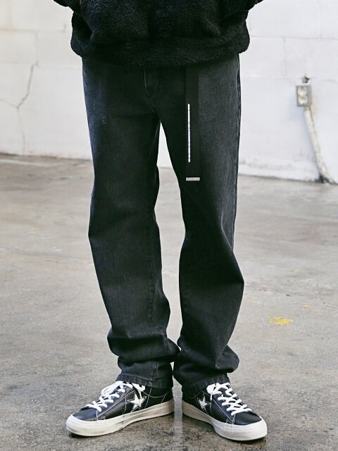 STN WSHD DAMAGE BLACK DENIM MFVJP003-BK