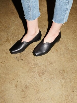 T001 v-loafer black (2cm)