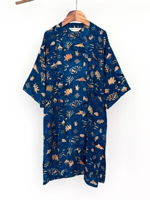 Kids Robe - Sunset / Navy