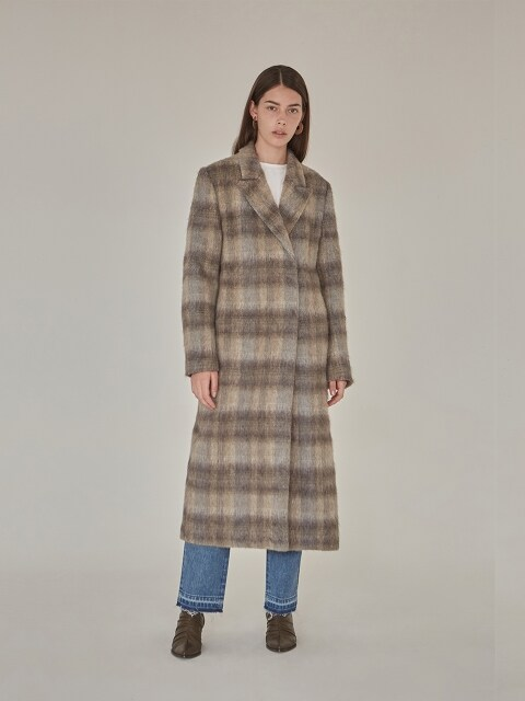 18FW BASIC LONG COAT - CHECK