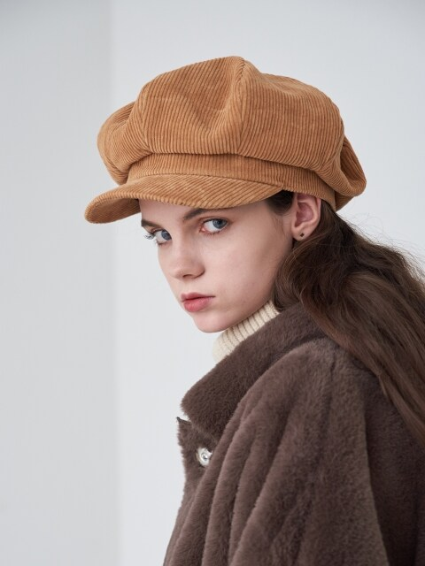 Amiens Corduroy Newsboy Cap (3color)