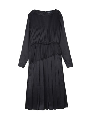 [리퍼브]Pleats One Piece Black