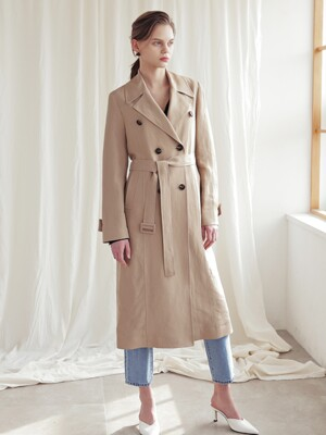 DOUBLE MAXI TRENCH COAT_D.BEIGE