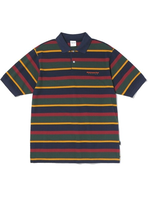 DSN Striped Jersey Polo Navy/Olive