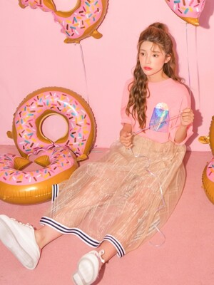 ZERO Donut Pocket T-Shirt_pink, purple