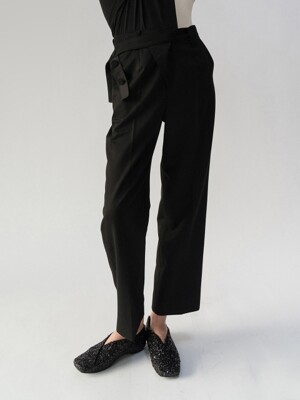 19FW ELASTICATED BELT TROUSERS (BLACK)