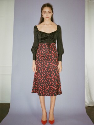 Rosepetal mermaid skirt (Black rosepetal)