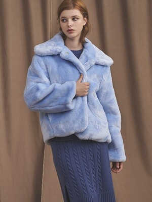 19 BIG COLLAR FUR JK [LIGHT BLUE]